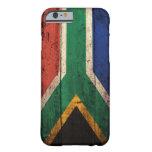 Bandera de madera vieja de Suráfrica Funda De iPhone 6 Barely There