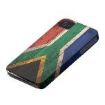 Bandera de madera vieja de Suráfrica iPhone 4 Case-Mate Cobertura