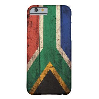 Bandera de madera vieja de Suráfrica Funda Barely There iPhone 6