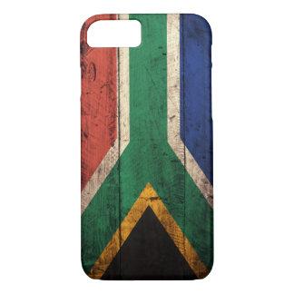 Bandera de madera vieja de Suráfrica Funda iPhone 7