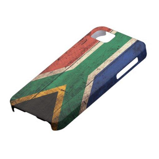 Bandera de madera vieja de Suráfrica Funda Para iPhone SE/5/5s