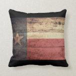 Bandera de madera vieja de Tejas; Cojin