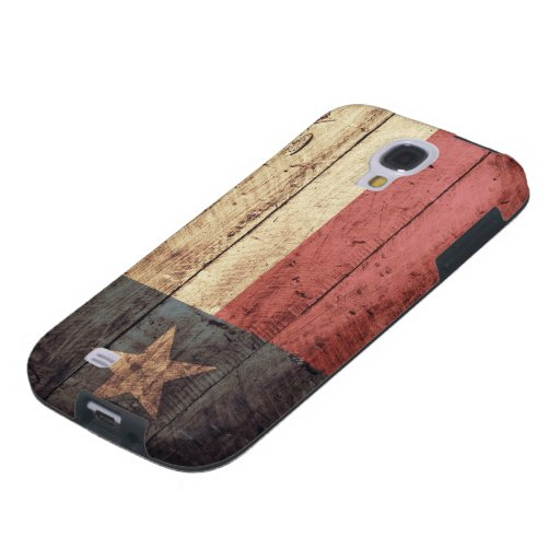 Bandera de madera vieja de Tejas; Funda Para Galaxy S4