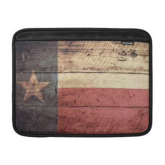 Bandera de madera vieja de Tejas Fundas Para Macbook Air