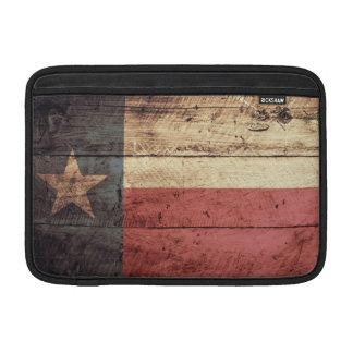 Bandera de madera vieja de Tejas Fundas MacBook
