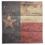 Bandera de madera vieja de Tejas; Servilletas Imprimidas