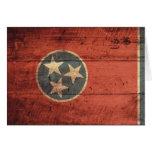Bandera de madera vieja de Tennessee; Tarjeta