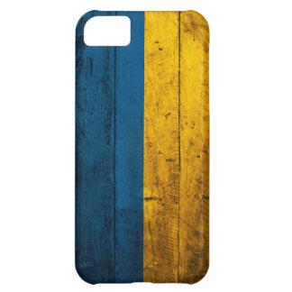 Bandera de madera vieja de Ucrania