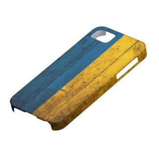 Bandera de madera vieja de Ucrania iPhone 5 Case-Mate Protector