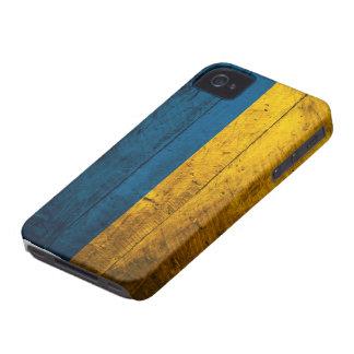Bandera de madera vieja de Ucrania Case-Mate iPhone 4 Cárcasas