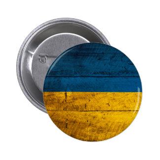 Bandera de madera vieja de Ucrania Pin