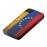 Bandera de madera vieja de Venezuela iPhone 4 Fundas