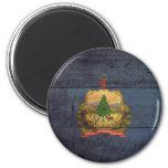 Bandera de madera vieja de Vermont; Imán Para Frigorífico