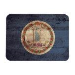 Bandera de madera vieja de Virginia; Imanes Flexibles