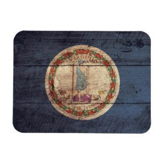Bandera de madera vieja de Virginia; Imanes