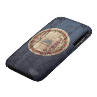 Bandera de madera vieja de Virginia; iPhone 3 Case-Mate Cárcasas