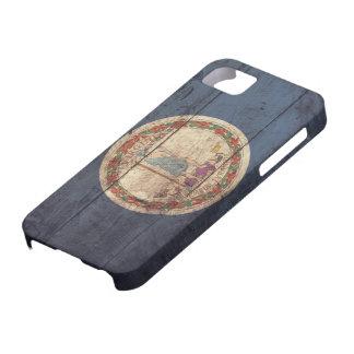 Bandera de madera vieja de Virginia; iPhone 5 Carcasa
