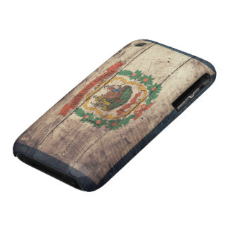 Bandera de madera vieja de Virginia Occidental iPhone 3 Case-Mate Cobertura
