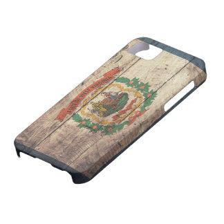 Bandera de madera vieja de Virginia Occidental iPhone 5 Fundas