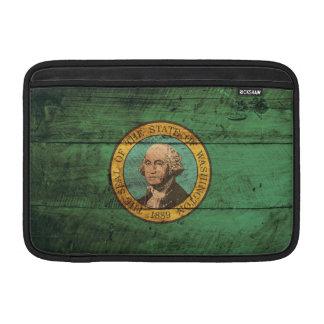 Bandera de madera vieja de Washington; Funda Para Macbook Air