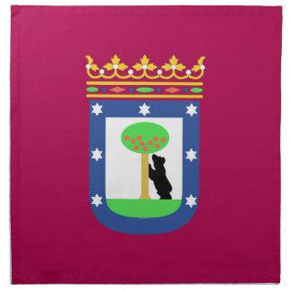 Bandera de Madrid España (ciudad) Servilletas De Papel
