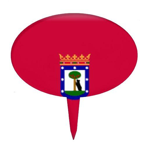 Bandera de Madrid Palillos De Tarta