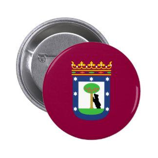 Bandera de Madrid Pin Redondo 5 Cm