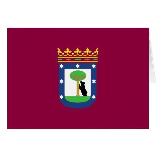 Bandera de Madrid Tarjeta
