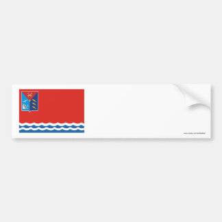 Bandera de Magadan Oblast Etiqueta De Parachoque