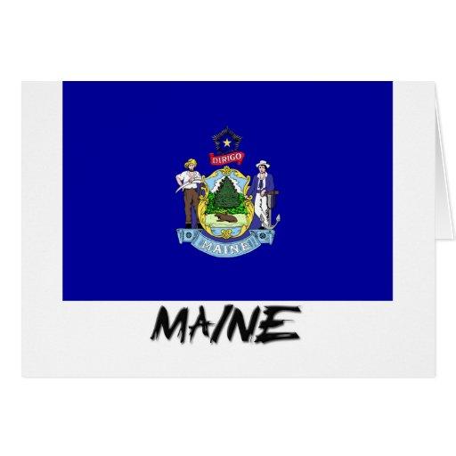 Bandera de Maine Felicitacion