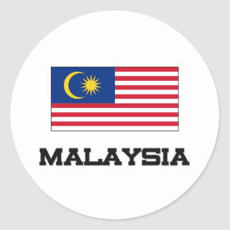 Bandera de Malasia Pegatina Redonda