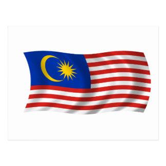 Bandera de Malasia Tarjeta Postal
