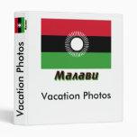 Bandera de Malawi con nombre en ruso Carpeta 2,5 Cm