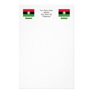 Bandera de Malawi con nombre Papeleria