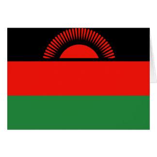 Bandera de Malawi Tarjeta De Felicitación