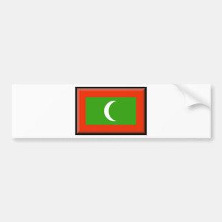 Bandera de Maldivas Etiqueta De Parachoque