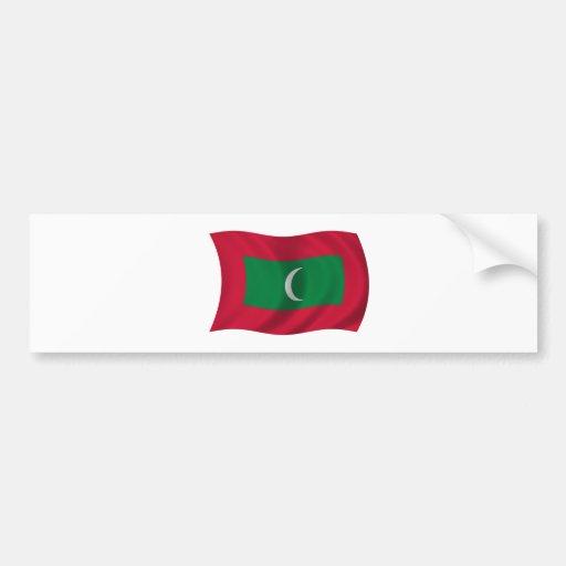 Bandera de Maldivas Pegatina De Parachoque
