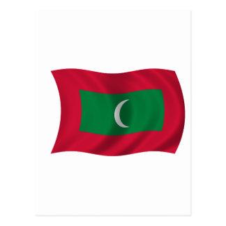 Bandera de Maldivas Tarjetas Postales
