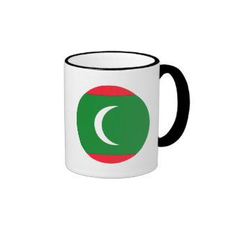 Bandera de Maldivas Taza De Dos Colores