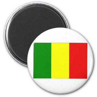 Bandera de Malí Imán Redondo 5 Cm