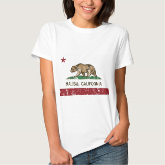 bandera de malibu California Playeras