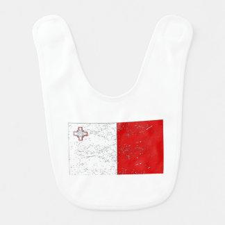 Bandera de Malta (apenada) Baberos