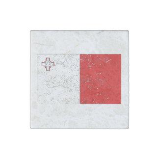 Bandera de Malta (apenada) Imán De Piedra