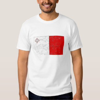 Bandera de Malta (apenada) Polera