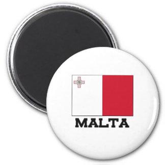 Bandera de Malta Imán Redondo 5 Cm