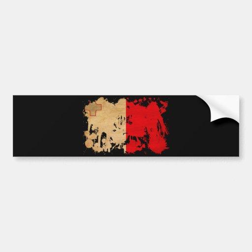 Bandera de Malta Pegatina De Parachoque