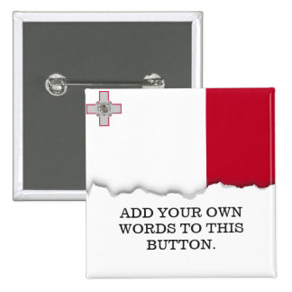 Bandera de Malta Pin Cuadrado