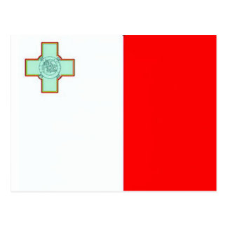 Bandera de Malta Tarjeta Postal