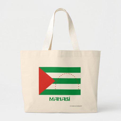 Bandera de Manabí con nombre Bolsas De Mano