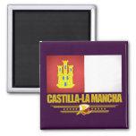 Bandera de Mancha del Castilla-La Imán Cuadrado